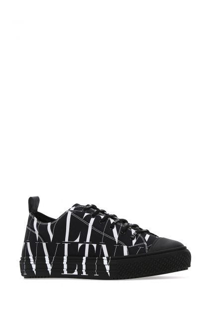 Black fabric VLTN All Over sneakers