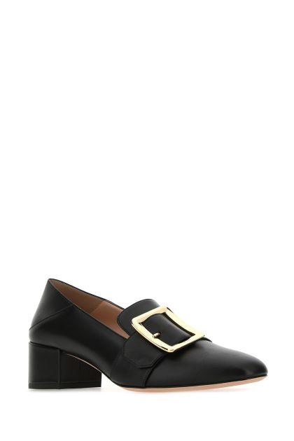 Black leather Janelle pumps