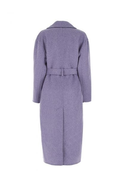 Lilac wool blend coat