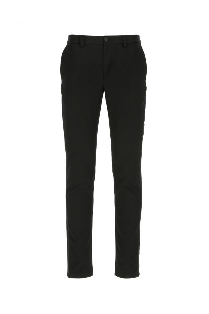 Black cotton slim pant