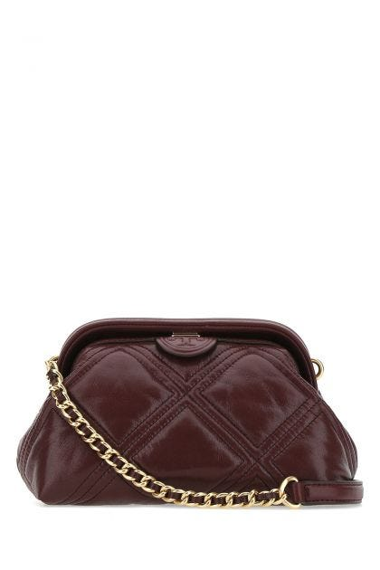 Grape leather small Fleming clutch