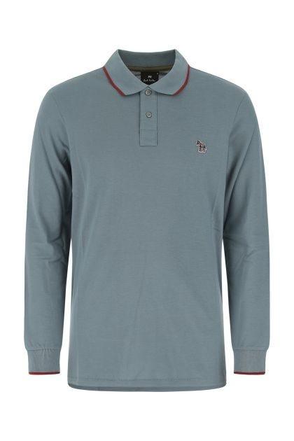Air force blue piquet polo shirt