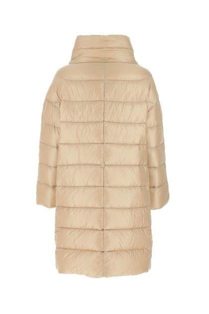 Ivory nylon oversize down jacket