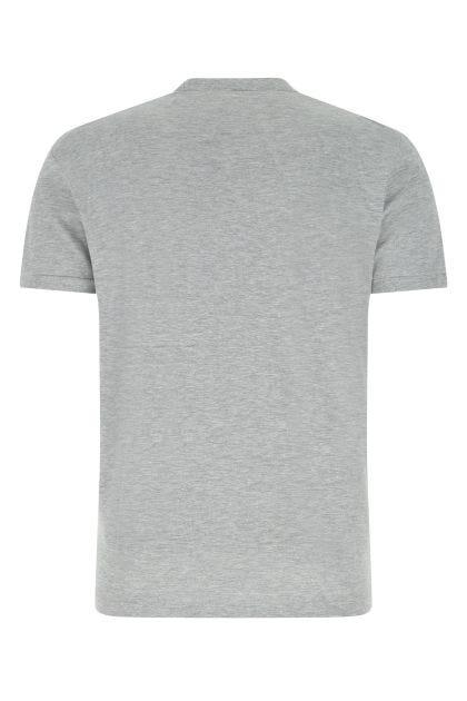 Melange grey cotton blend t-shirt