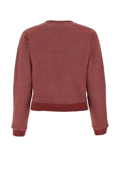 Melange burgundi cotton sweater
