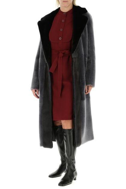 Burgundy crepe dress