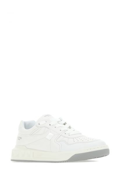 White nappa leather One Stud low-top sneakers