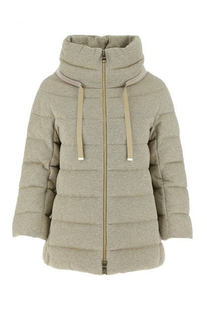 Light grey cotton blend down jacket