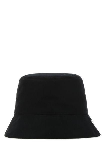 Black cotton VLTN bucket hat