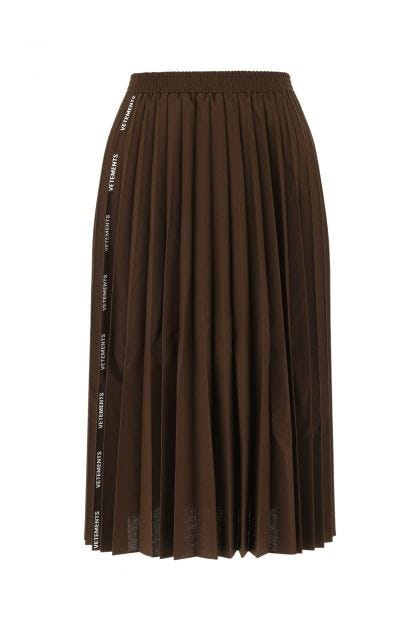 Brown polyester blend skirt
