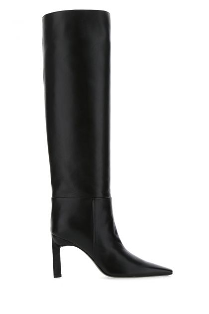 Black leather Vitto 85 boots