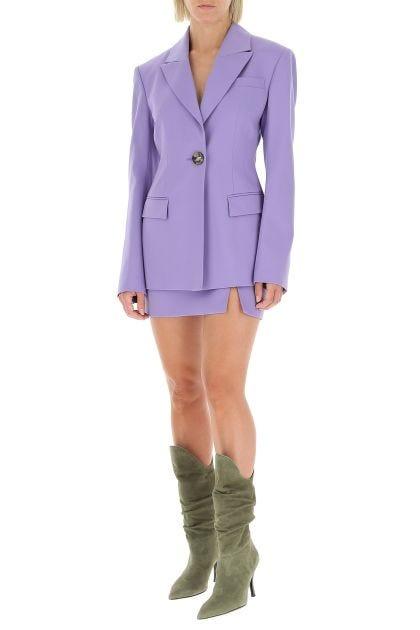 Lilac stretch wool blazer