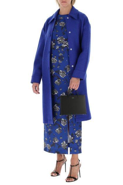 Electric blue wool coat