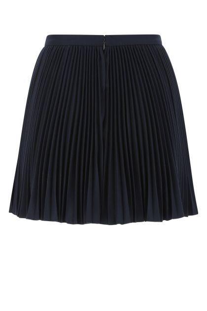 Midnight blue flannel skirt