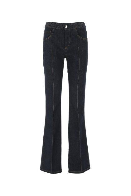 Blue denim stretch jeans