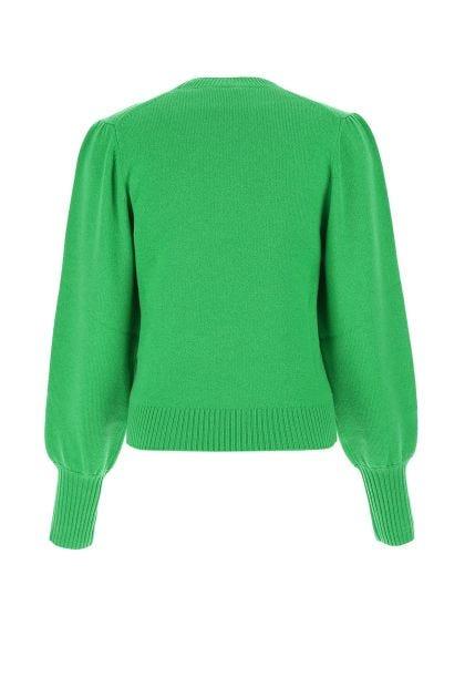 Grass green cashmere sweater