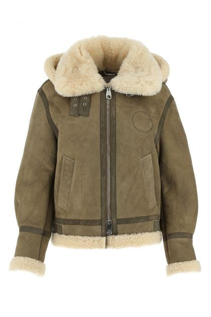 Khaki shearling jacket