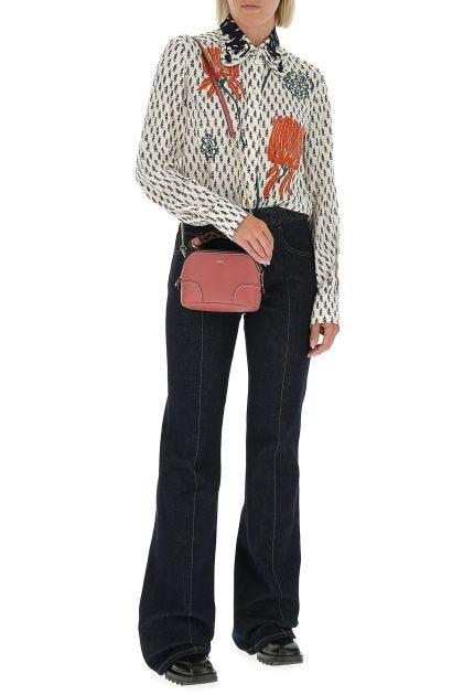 Dark pink leather mini Daria handbag