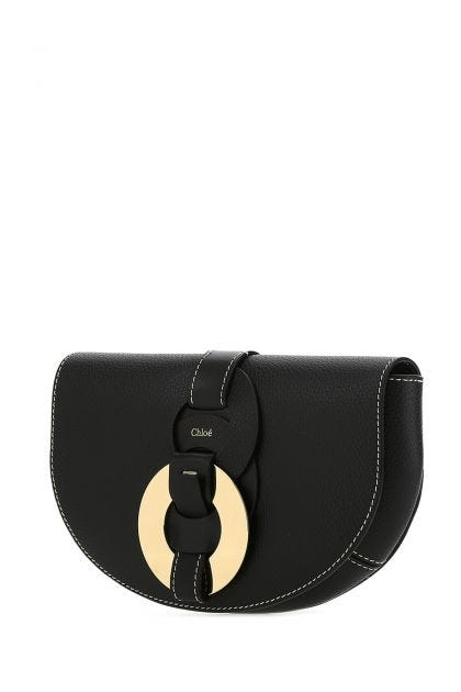 Black leather Darryl belt bag