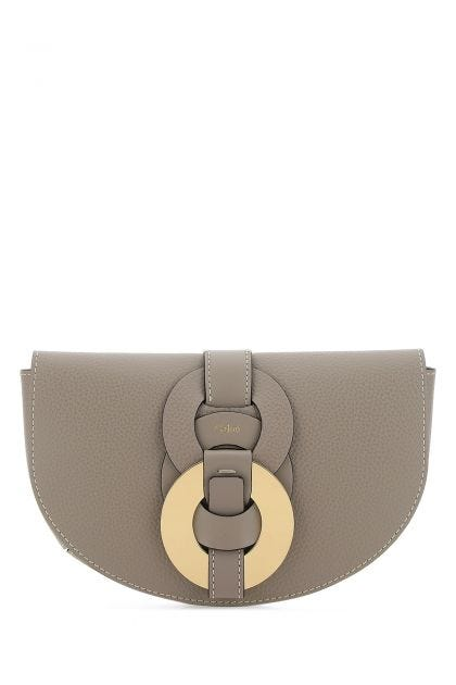 Dove gray leather Darryl belt bag