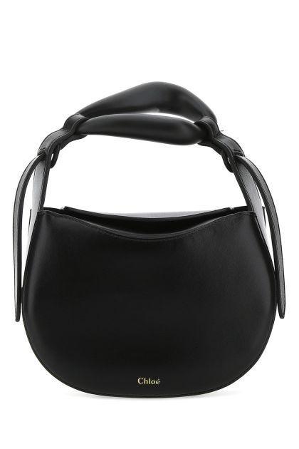 Black nappa leather small Kiss handbag