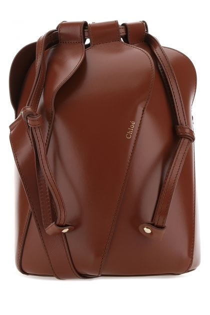 Brick leather small Tulip crossbody bag