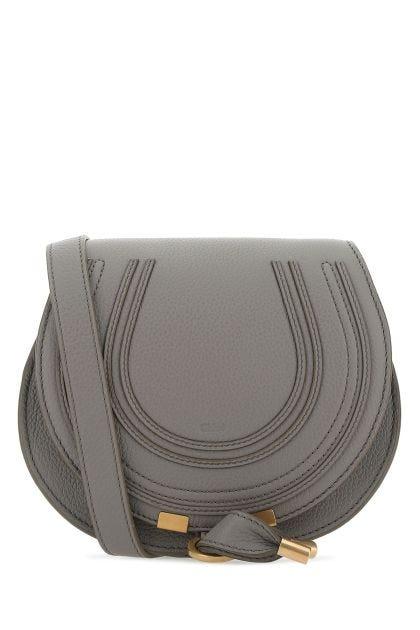 Grey leather small Marcie crossbody bag