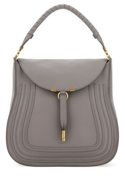 Grey leather Marcie Hobo handbag
