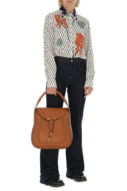 Caramel leather Marcie Hobo handbag