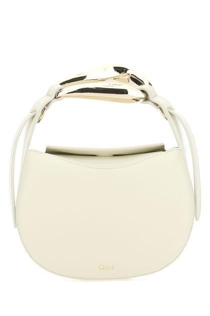 Sand leather small Kiss bag