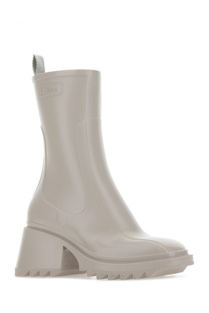 Dove grey PVC Betty boots