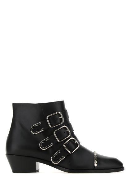 Black nappa leather Idol boots