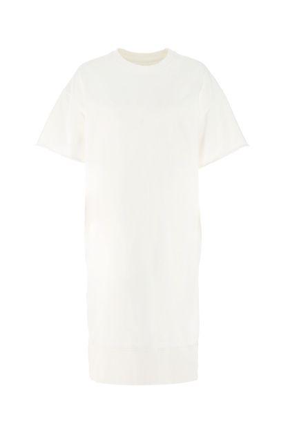 White cotton oversize t-shirt dress