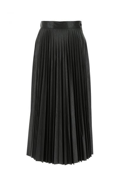 Black synthetic leather skirt