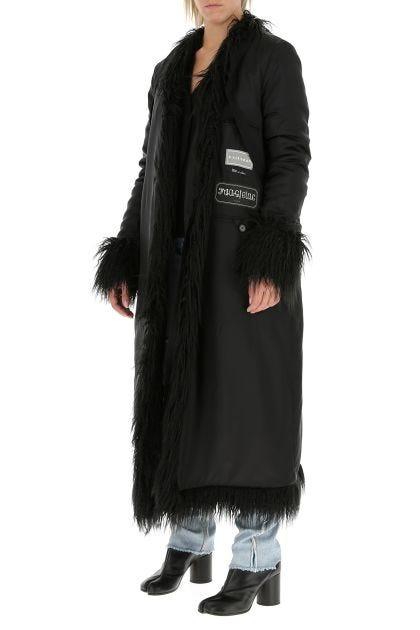 Black viscose coat