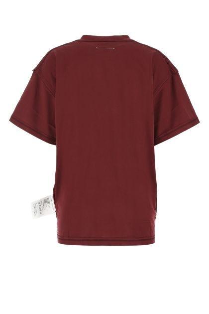Burgundy cotton t-shirt