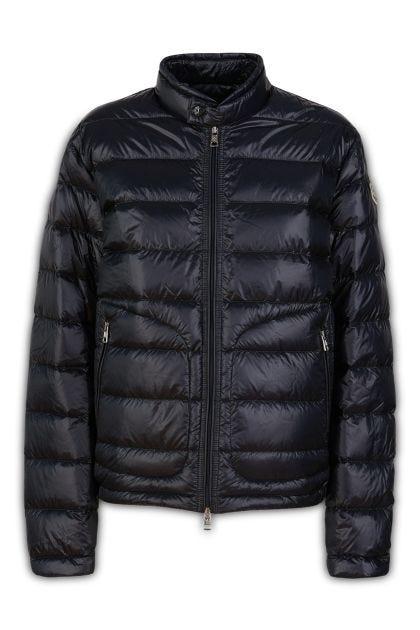 Midnight blue nylon Acorus down jacket