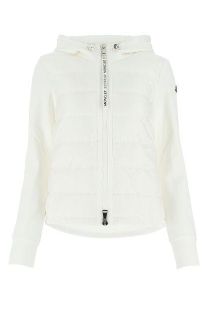 White nylon and cotton cardigan