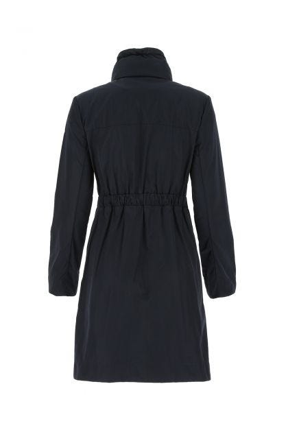 Midnight blue polyester Malachite raincoat