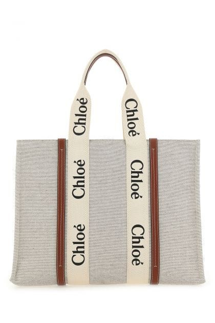 Multicolor canvas Woody shopping bag