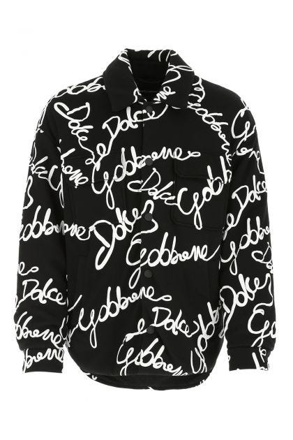 Printed cotton blend padded jacket