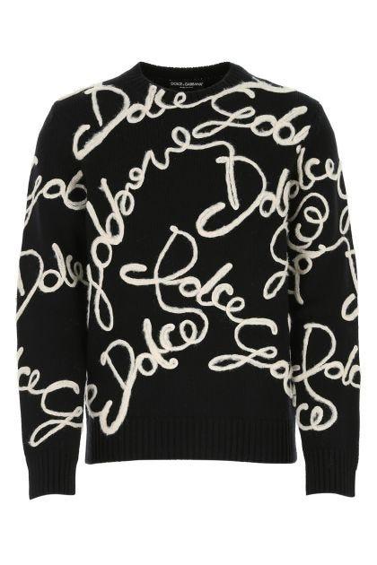 Black wool blend sweater