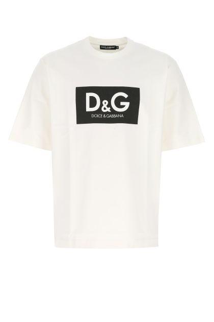 Ivory cotton oversize t-shirt