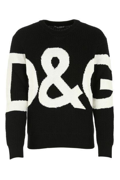 Black wool oversize sweater