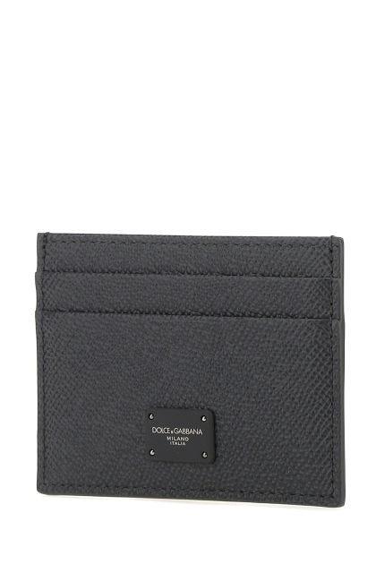 Graphite leather cardholder
