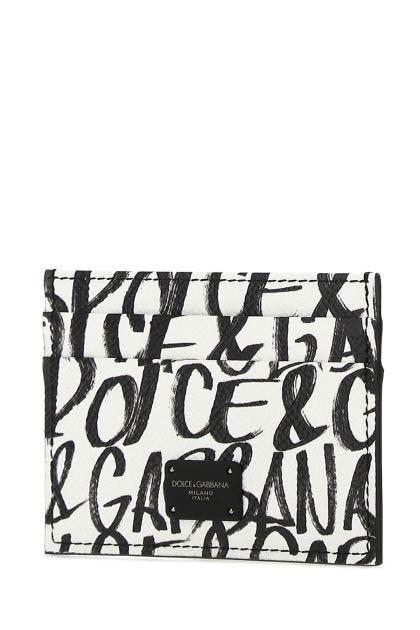 White leather cardholder
