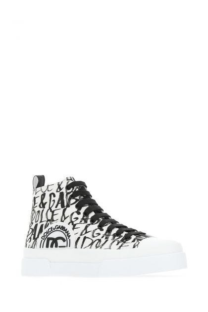 White Portofino Light canvas high sneakers