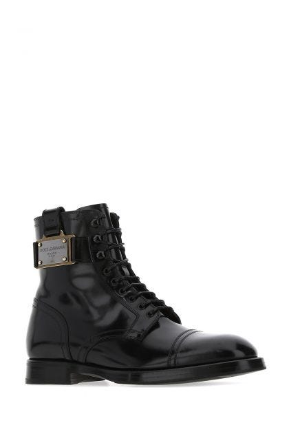 Black leather Michelangelo boots
