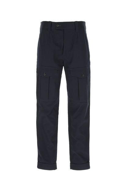 Dark blue gabardine cargo pant