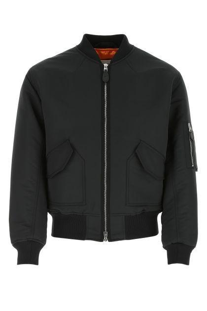 Slate polyester bomber jacket